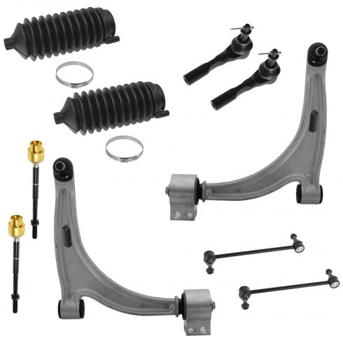 04-12 Malibu; 04-08 Malibu Maxx; 05-10 G6; 07-09 Aura Front Steering & Suspension Kit (10 Piece)