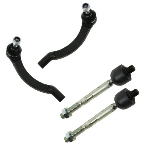 93-97 Vovlo 850; 98-00 C70,S70,V70 Front Inner & Outer Tie Rod End Set