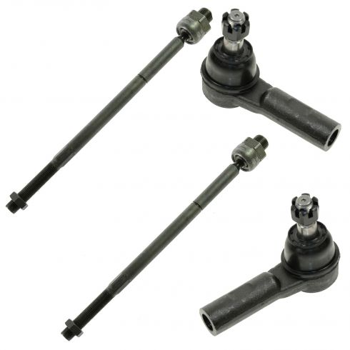 06-08 Ram 1500 (exc Mega Cab) 09-12 1500 Inner & Outer Tie Rod Set of 4
