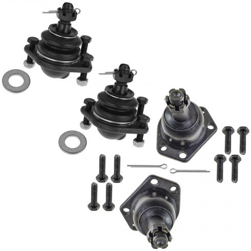84-96 Chevy GMC Olds Midsize Pickup SUV 4WD Upper & Lower Ball Joint Set of 4