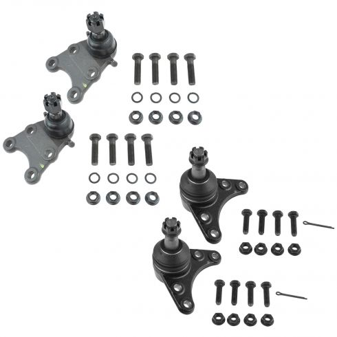 4-12 Colorado; Canyon (w/ Coil spring); 06-08 Isuzu I280 I290 Front Upper Lower Ball Joint Set of 4