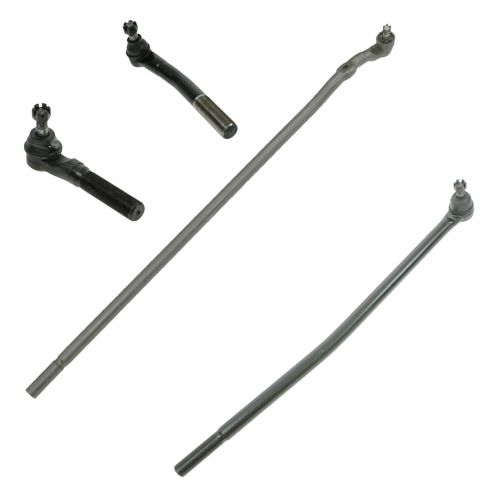 98-99 Dodge Ram 2500 3500 4WD (w/ heavy duty suspension) Tie Rod End Set of 4