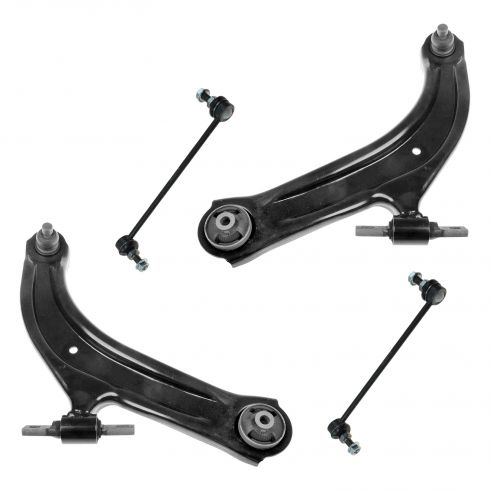 07-12 Nissan Sentra Lower Control Arm w/ Ball Joint & Sway Bar End Link Kit (Set of 4)