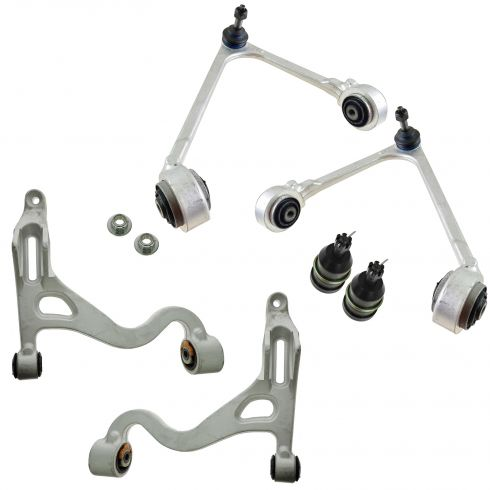 00-02 Lincoln LS Front Upper & Lower Control Arm w/ Balljoints Kit (Set of 6)