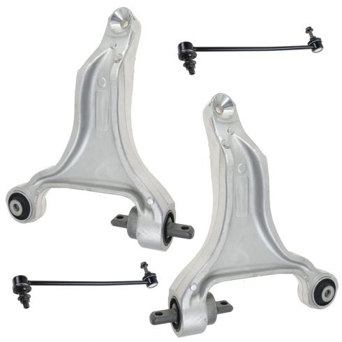 01-02 Volvo V70 X/C; 03-07 XC70 Front Lower Control Arm & Sway Bar Link Kit (Set of 4)