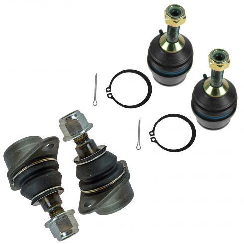 03-05 Crown Vic; Town Car; Grand Marquis (w/ Forged Arm) Front Upper & Lower Ball Joint Set of 4