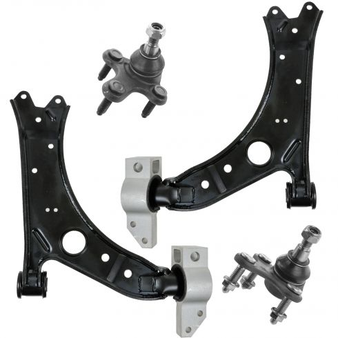 06-13 Audi A3; 05-14 VW Vin K w/o Auto Height Adj Front Lwr Cntrl Arm w/ Ball Joint Kit (Set of 4)