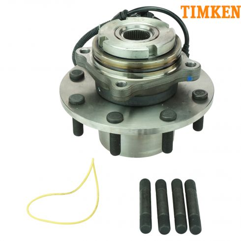 99 Ford Super Duty Truck DRW 4WD 4Whl ABS Front Wheel Bearing & Hub Assy (Timken