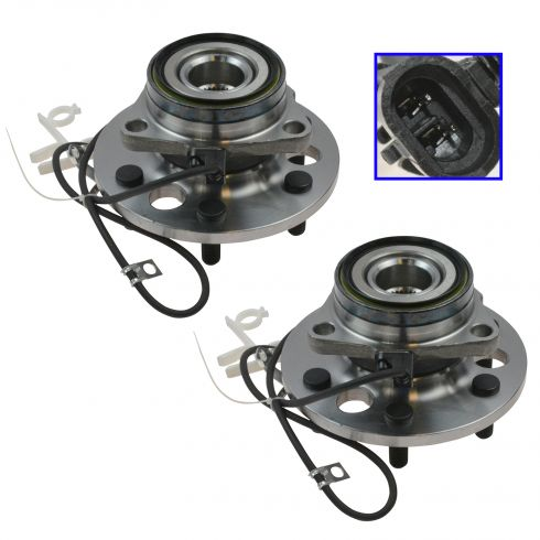 1995-00 Chevy GMC Truck Yukon Tahoe Front Wheel Hub Bearing Pair