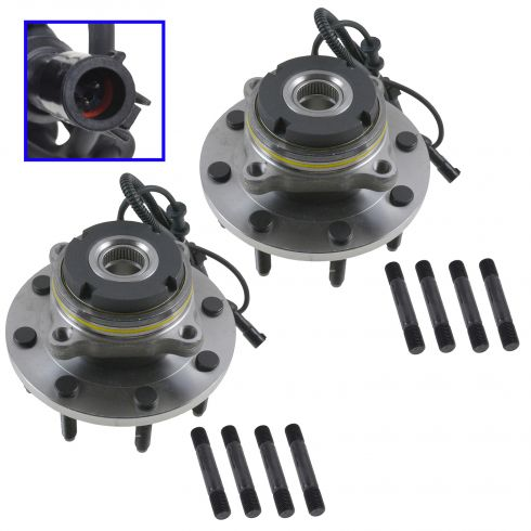 2000-05 Super Duty 8 Lug Front Hub Bearing Pair