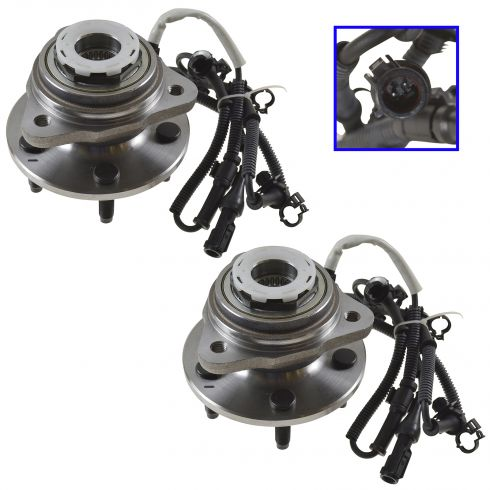 1998-00 Ford Ranger Front Hub Bearing Pair 4x4 With 4 wheel ABS