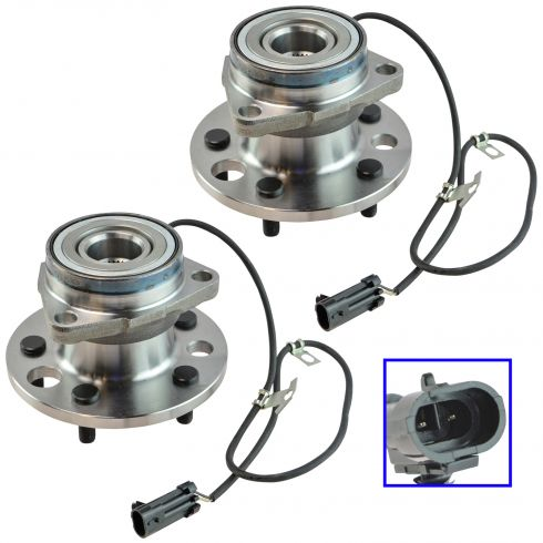 1995-02 Chevy Astro Van Front Hub Bearing Pair With AWD