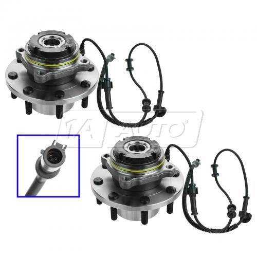 03-04 Ford SD PU 4WD DRW AWAL Front Hub & Bearing Pair