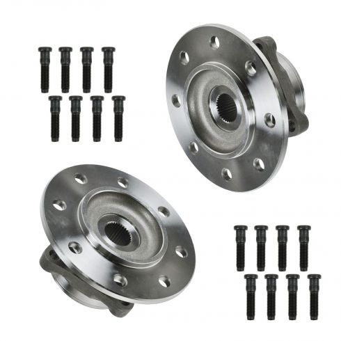 1994-99 Dodge 3500 4x4; 1994-98 3500 w/ I-beam axle 4x2 Front Hub & Bearing PAIR