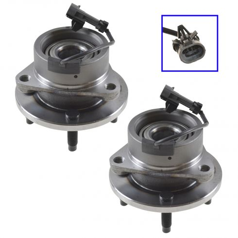 2003-09 GM Mid Size FWD w/ABS & 4 Lug Front Hub & Bearing Assy PAIR