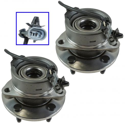 04-11 GM Mid Size w/ABS & w/5 Lug Front Hub & Bearing Assy PAIR