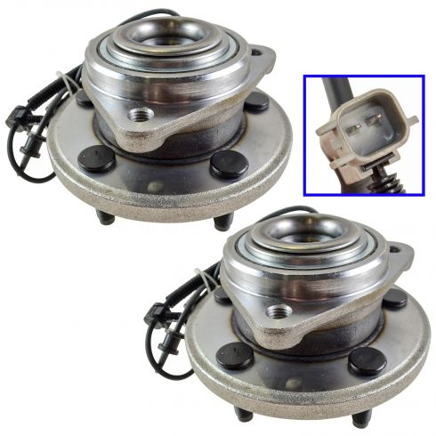 06-10 Jeep Commander 05-10 Jeep Grand Cherokee Front Hub & Bearing Pair