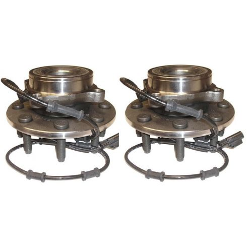 03-05 Dodge Ram 2500 3500 4x4 Front Hub & Bearing Assembly Pair