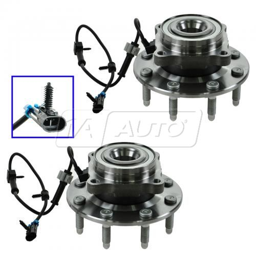 2001-07 Chevy GMC 3500HD PU 4x4 Front Hub & Bearing Assy PAIR