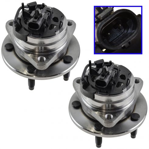 2004-10 GM FWD Mid Size Multifit Front Hub & Wheel Bearing w/ABS PAIR