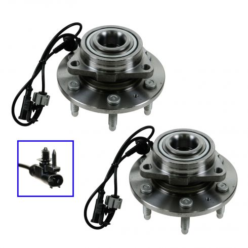 07-11 GM Full Size SUV & Truck 1500 4WD Front Wheel Bearing & Hub PAIR
