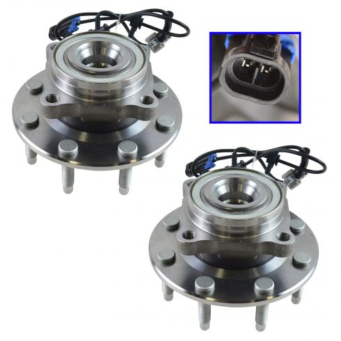 2007-10 GM Full Size SUV & Truck 2500 Front Wheel Bearing & Hub PAIR