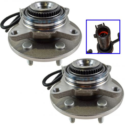 (11/29/04)-08 Ford F150; 06-08 Lincoln LT (6 Lug) Front Wheel Bearing & Hub PAIR