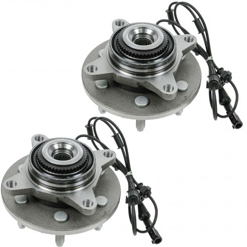 2003-06 Ford Expedition, Lincoln Navigator 4WD Front Wheel Bearing & Hub PAIR