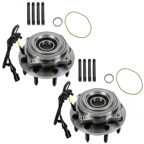 2005-10 Ford F250SD F350SD w/SRW 4WD AWAL Front Wheel Bearing & Hub PAIR