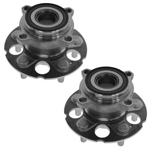 07-11 Honda CR-V w/4WD; 07-11 Acura RDX Rear Wheel Bearing & Hub PAIR