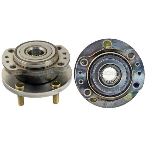 97-04 Chrysler Mini Van AWD Rear Wheel Bearing & Hub PAIR
