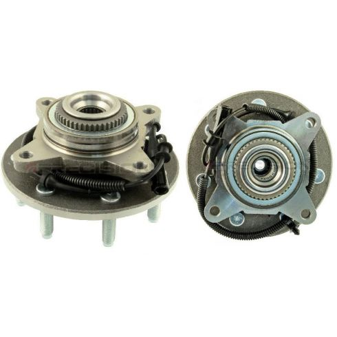 04-05 (thru 11/29/04) Ford F150 4WD (7 Lug) Front Wheel Bearing & Hub PAIR