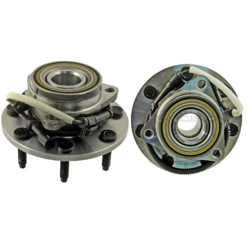 00-04 Ford F150; 97-99 F250 4WD (7 Lug) w/ABS Front Wheel Bearing & Hub PAIR