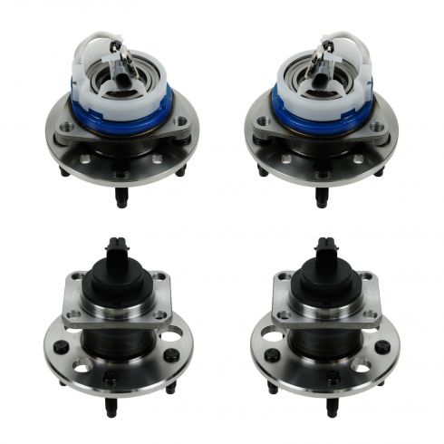 99-05 Chevy, Olds, Pontiac Multifit Front & Rear Wheel Bearing & Hub Assemblies (Set of 4)