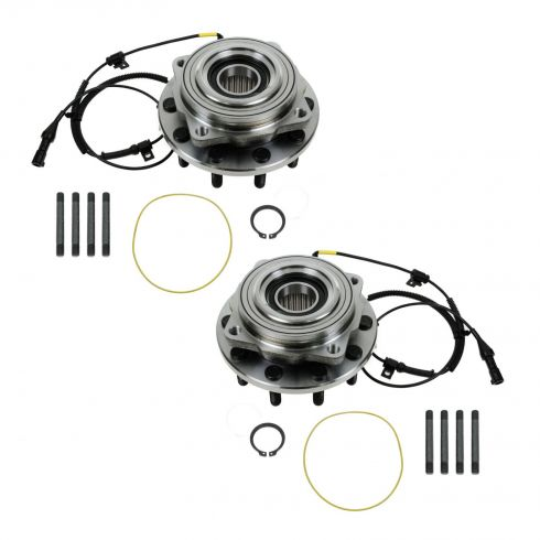 05-10 Ford F450SD, F550SD (w/4WD w/DRW) Front Wheel Bearing & Hub Assembly PAIR