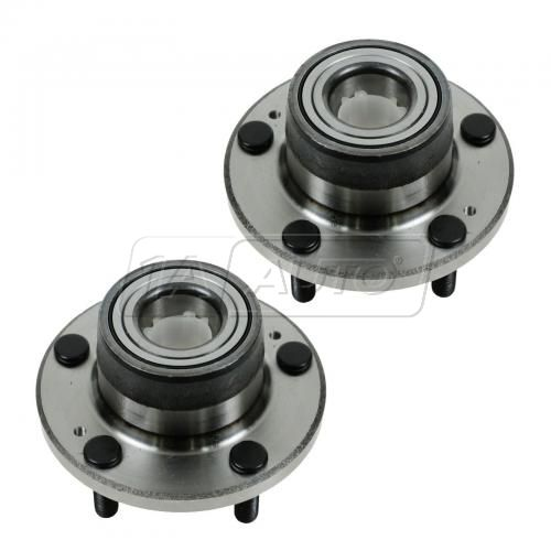 91-93 Dodge Stealth; 91-99 Mitsubishi 3000GT w/FWD (w/o ABS) Rear Wheel Bearing & Hub Assy PAIR