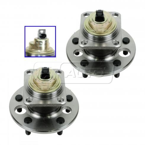 89-92 Cutlass; 89-91 Grand Prix; 88-91 Regal (w/ABS) Rear Wheel Bearing & Hub Assy PAIR