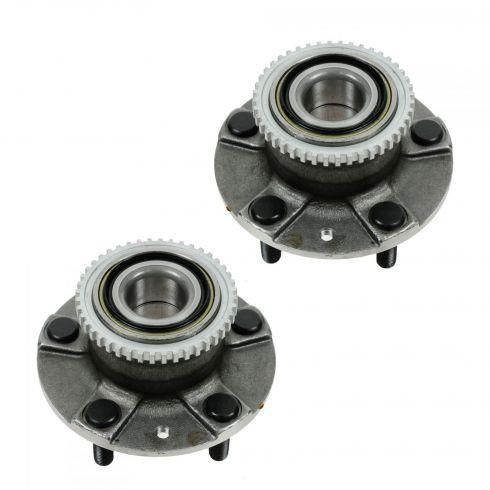 98-02 Mazda 626 (w/ABS) Rear Wheel Bearing & Hub Assy PAIR