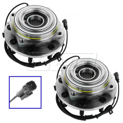 11-12 Ford F450SD (exc Cab & Chassis) (w/4WD) Front Wheel Bearing & Hub Assy PAIR