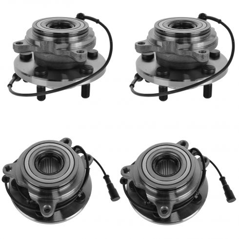 99 Land Rover Discovery Series II; 00-04 Discovery Front & Rear Wheel Bearing & Hub (Set of 4)