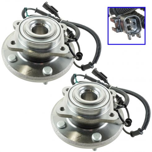 08-11 Chrysler, Dodge, Ram Mini Van; 09-13 VW Routan Rear Wheel Hub & Bearing Pair