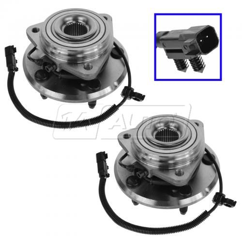 07-14 Jeep Wrangler Front Wheel Bearing & Hub Assy Pair