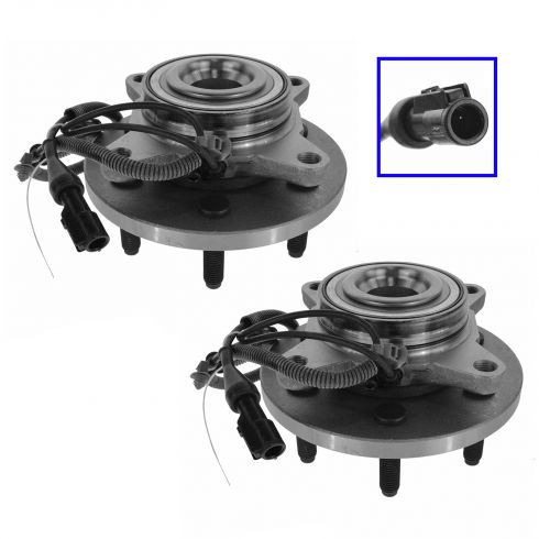 10 Expedition, Navigator; 09-10 F150 (w/2WD & 6 Lug Whl) Front Wheel Hub & Bearing PAIR (Timken)