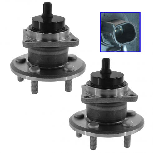 09-10 Vibe FWD; 09-13 Matrix FWD; 09-14 Corolla Rear Wheel Bearing & Hub Assy LR = RR