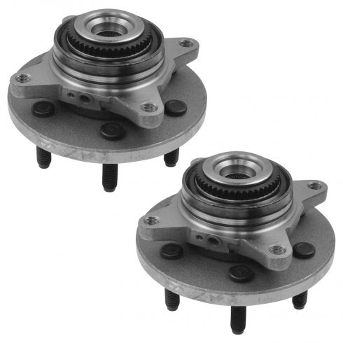 07-10 Expedition, Navigator (w/4WD & 6 Lug Wheel) Front Hub & Wheel Bearing PAIR