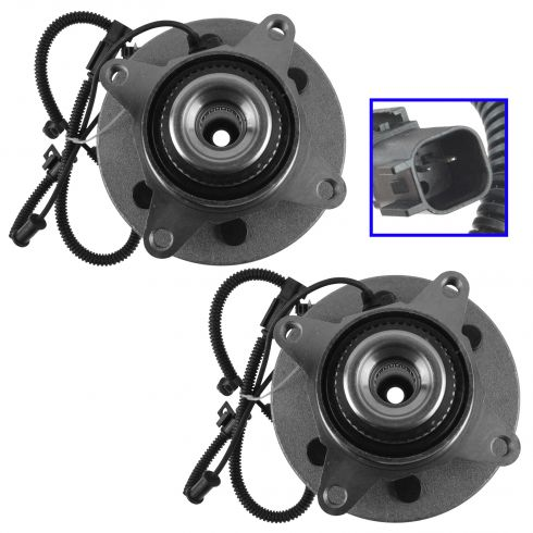 11-14 Explorer, Navigator; F150 (w/4wd & 6 Lug) Front Wheel Bearing & Hub Assembly Pair