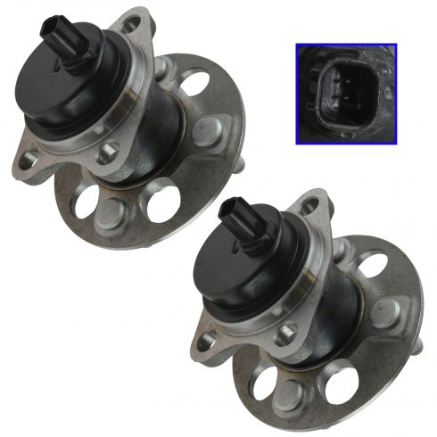 06-15 Toyota Yaris w/ABS; 12-15 Prius C Rear Wheel Bearing & Hub Assy Pair