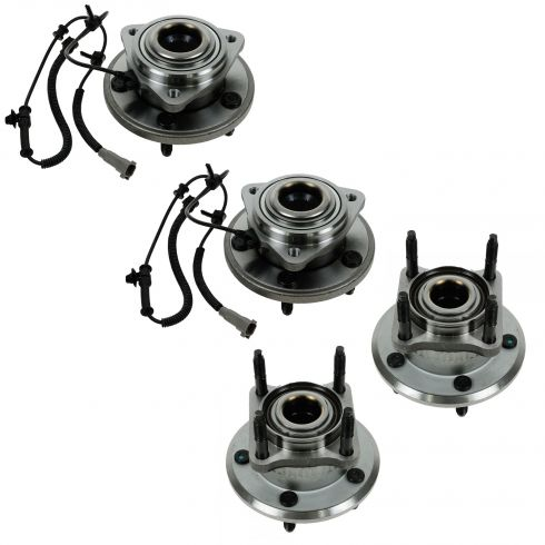 06-10 Commander; 05-10 Grand Cherokee Front Rear Wheel Bearing & Hub Assy Set of 4