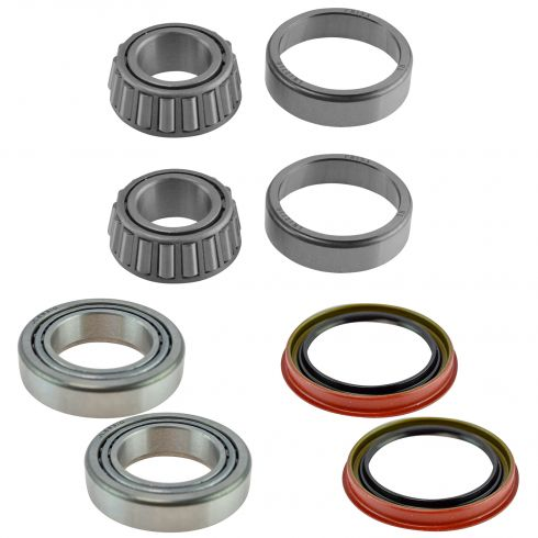 97-04 Ford F150; 97-99 F250; 97-02 Expedition Front Inner & Outer Wheel Bearing w/Seal Kit Pair