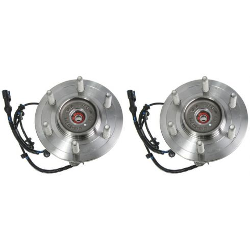 04-(thru 11/28/04) Ford F150 New Body 6 Stud 4WD Front Wheel Bearing & Hub LF = RF (MOTORCRAFT) PAIR